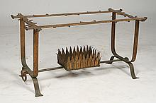FRENCH GILT WROUGHT IRON COFFEE TABLE