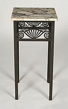 IRON MARBLE TOP FRENCH ART DECO TABLE 1930