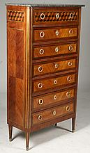 FRENCH MARBLE TOP LINGERIE CHEST C. 1900