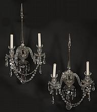 PR WATERFORD CRYSTAL WALL SCONCES WATERFORD