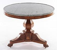 LOUIS PHILIPPE MARBLE TOP CENTER TABLE C.1870