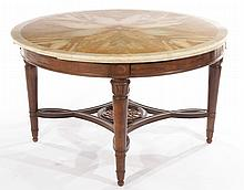 ITALIAN CENTER TABLE ONYX MARBLE TOP 1890