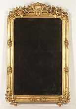 FRENCH 19TH C. LOUIS PHILLIPE GILT WOOD MIRROR