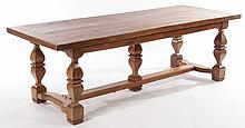 CONTINENTAL CARVED WALNUT MONASTERY TABLE 1920