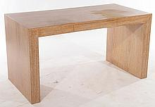 FRENCH CERUSED OAK PARSONS STYLE CONSOLE TABLE