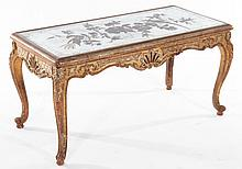 MAISON JANSEN LOUIS XV GILT WOOD COFFEE TABLE
