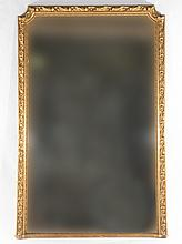 19TH CENT. FRENCH LOUIS XV GILTWOOD CARVED MIRROR