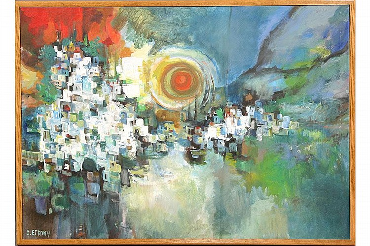 CATRIEL EFRONY MODERN OIL PAINTING ABSTRACT