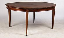 DIRECTOIRE MAHOGANY BRONZE MOUNTED DINING TABLE