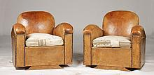 PR FRENCH LEATHER CLUB CHAIRS DOWN CUSHION