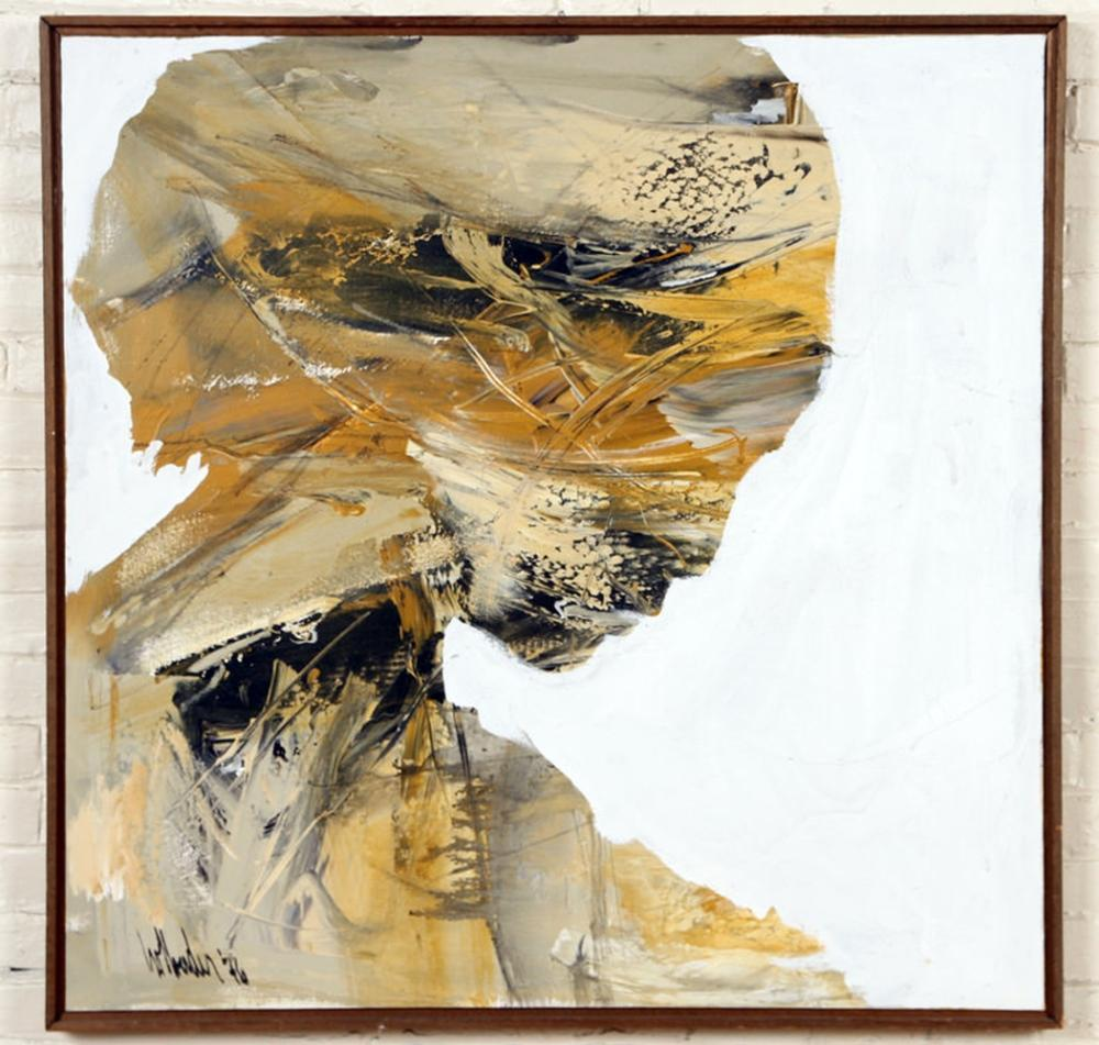 """GINO HOLLANDER """"WOMANS HEAD"""" OIL ON CANVAS SIGNED"""