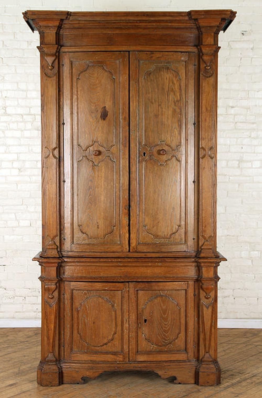 LARGE PAIR 18TH CENTURY CONTINENTAL CABINETS