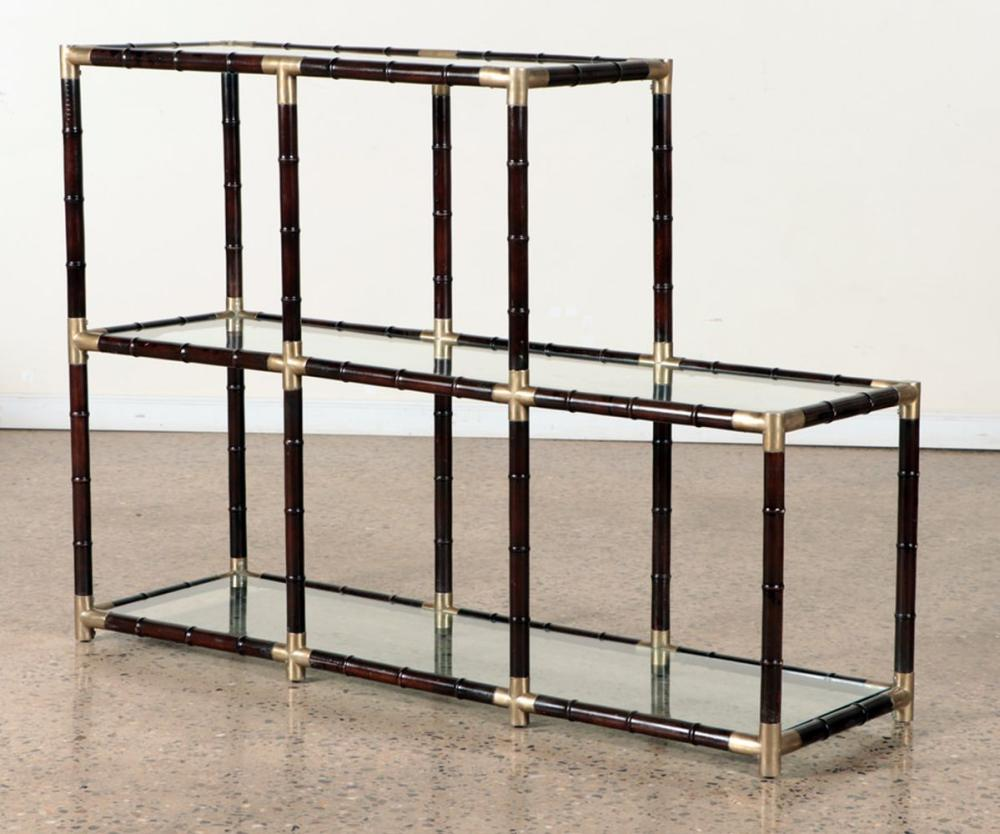 FAUX BAMBOO GLASS ETEGERE MANNER BILLY HAINES