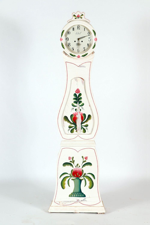 SWEDISH MORA FEMALE STYLE GRANDFATHER CLOCK 1860