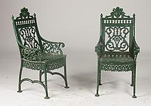 PR OF LISTER AND FEE GARDEN CHAIRS C. 1890