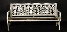 19TH C. COALBROOKDALE WATER PLANT CAST IRON BENCH