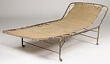 19TH C. FRENCH WROUGH IRON CAMPAIGN BED C.1870
