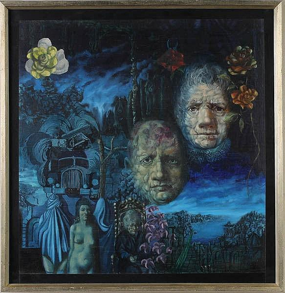 THOMAS TONER T.N.T. SURREALIST DREAM PAINTING