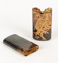 MEIJI PERIOD C.1900 TORTOISE SHELL CIGAR CASE