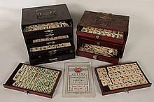 TWO MAHJONG GAME SETS CIRCA 1950