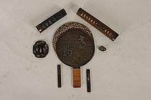 LOT SEVEN MEIJI ERA JAPANESE SWORD ITEMS C.1880