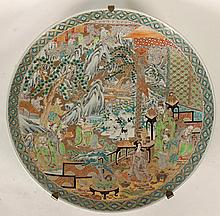 LARGE 19TH CENT. ANTIQUE IMARI JAPANESE CHARGER