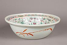 20TH C. CHINESE EXPORT BASIN PEACOCK DECORATION