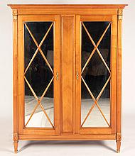 FRENCH CHERRY NEOCLASSICAL 2 DOOR CABINET 1950