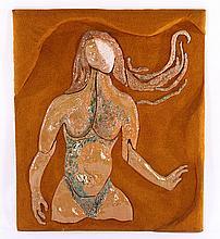 DEBORAH J. KREIDER SIGNED FEMALE NUDE CERAMIC