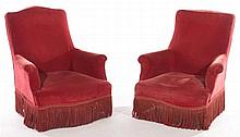 PAIR OF NAPOLEAN III LOUNGE CHAIRS CIRCA 1870