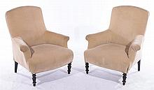 PAIR OF FRENCH NAPOLEAN III ARM CHAIRS C.1880