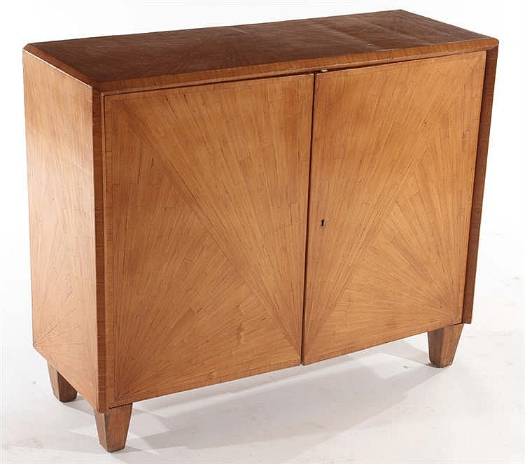 a parquetry cabinet manner of jean michel frank