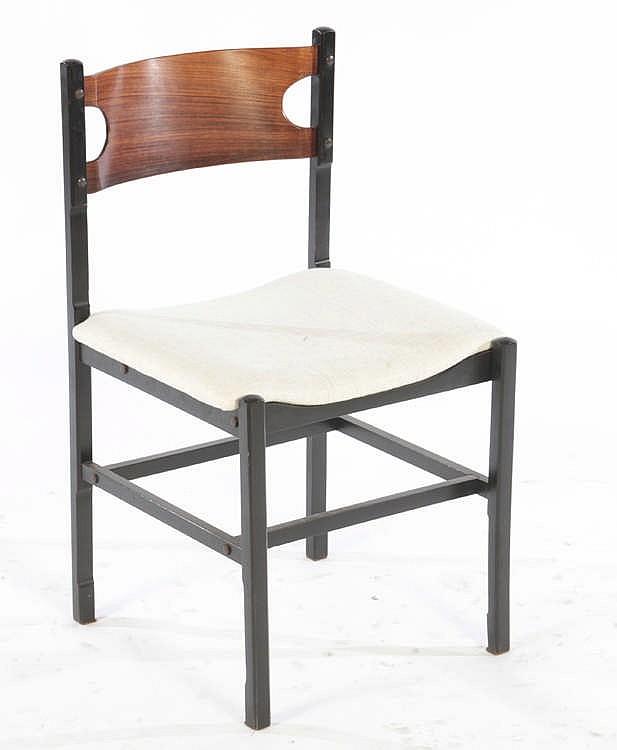 set of 6 ebonized cassina chairs labeled. Black Bedroom Furniture Sets. Home Design Ideas