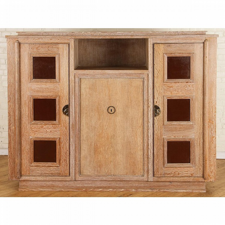 Cerused French Oak Kitchens And Cabinets: FRENCH CERUSED OAK CABINET ATTR. JACQUES ADNET