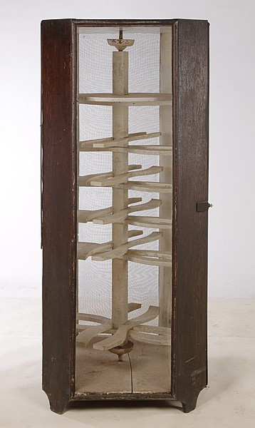 ANTIQUE PIE SAFE CABINET SCREENED SIDES