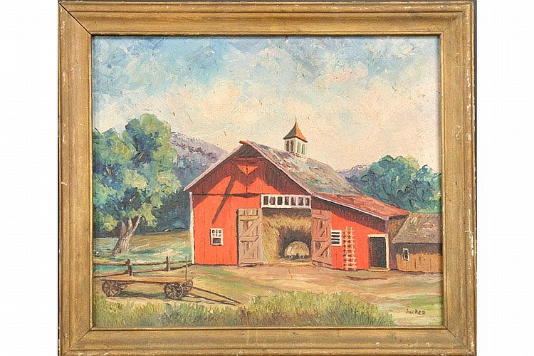 PHILIP BURHNAM HICKEN LISTED PAINTING OIL