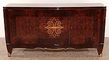 JULES LELEU STYLE FRENCH ROSEWOOD SIDEBOARD C1940