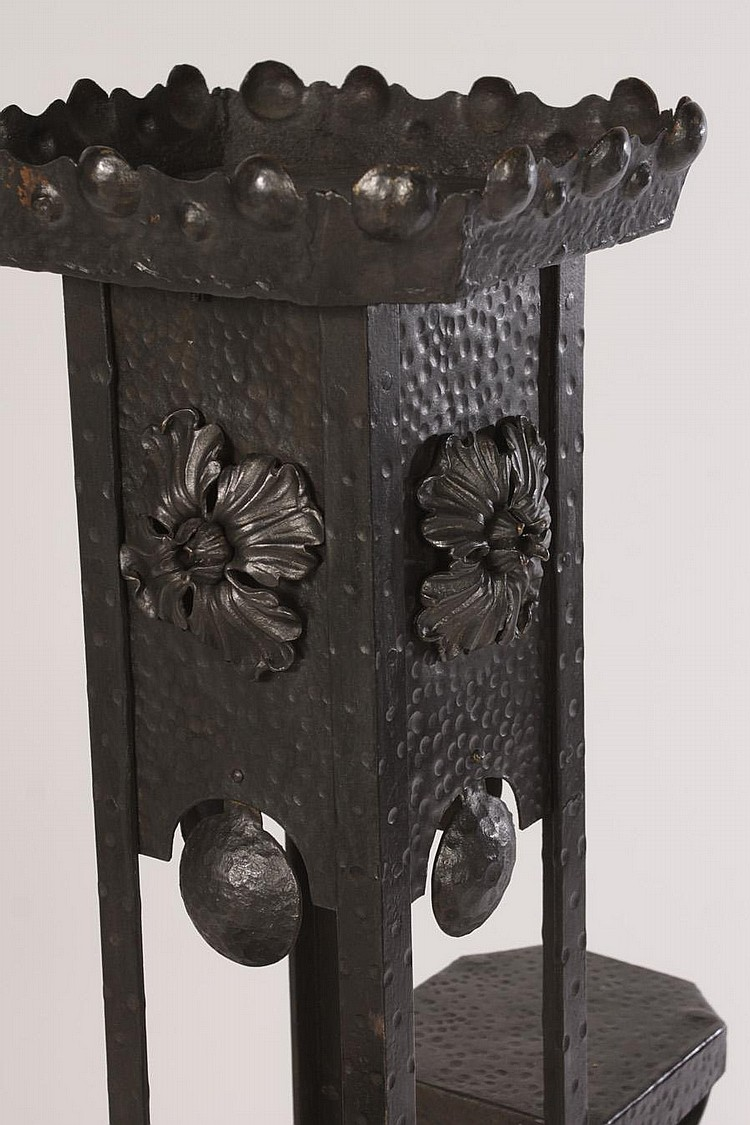 French Wrought Iron Multi Level Plant Stand 1920