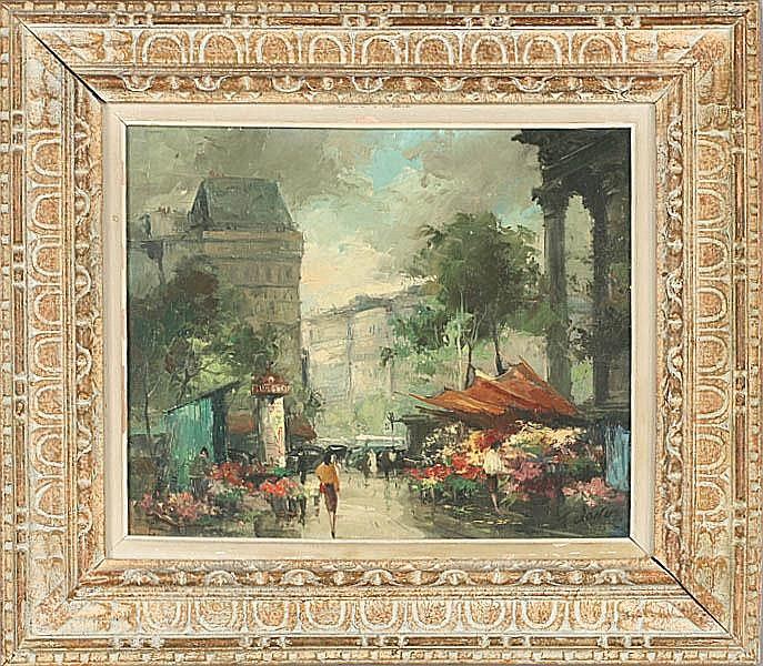FRANCOIS CLAVER FRENCH ARTIST OIL PAINTING