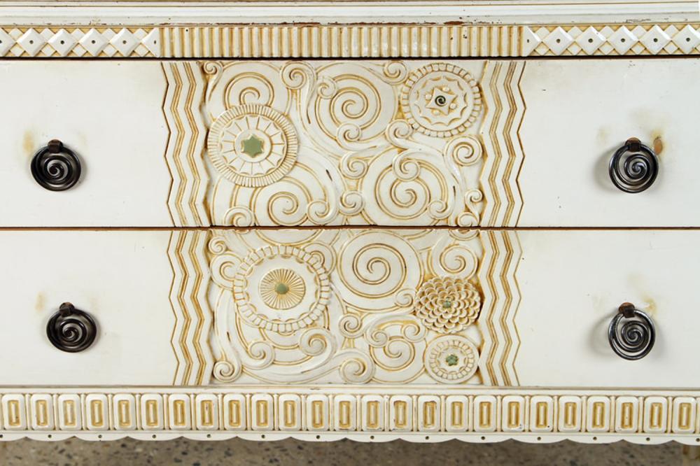 ITALIAN ART DECO MARBLE TOP SERVER CIRCA 1930