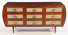 MID CENTURY MODERN CHEST OF DRAWERS 9 DRAWERS