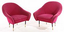PAIR OF UPHOLSTERED CLUB CHAIRS ICO PARISI 1960