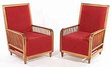 PAIR PAOLO BUFFA CLUB CHAIRS UPHOLSTERED 1970