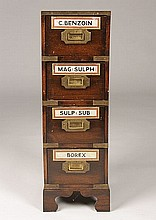 ENGLISH CAMPAIGN STYLE APOTHECARY CHEST