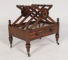 ENGLISH ROSEWOOD CANTERBURY SINGLE DRAWER CIRCA 1820