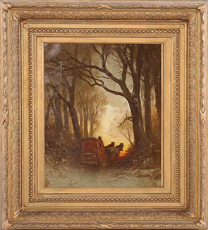 J.H. COOKS SIGNED OIL ON CANVAS