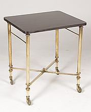 REGENCY STYLE BRONZE CART WITH X FORM STRETCHER