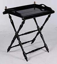 EBONIZED BUTLERS TRAY FOLDING X-FORM BASE