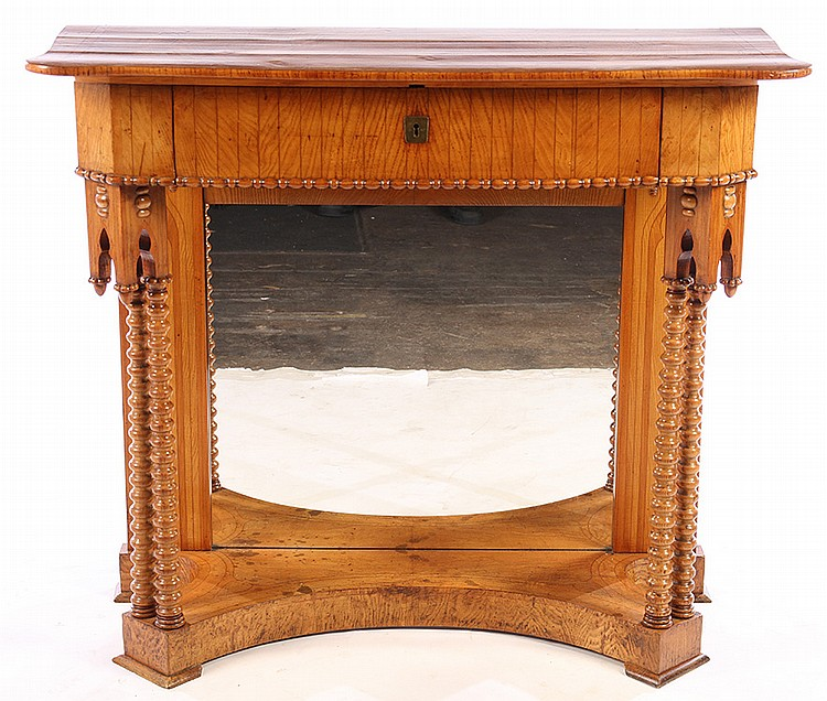 19th cent english yew wood gothic console table for Yew sofa table