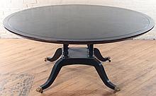 SIGNED MCGUIRE EBONIZED MAHOGANY DINING TABLE